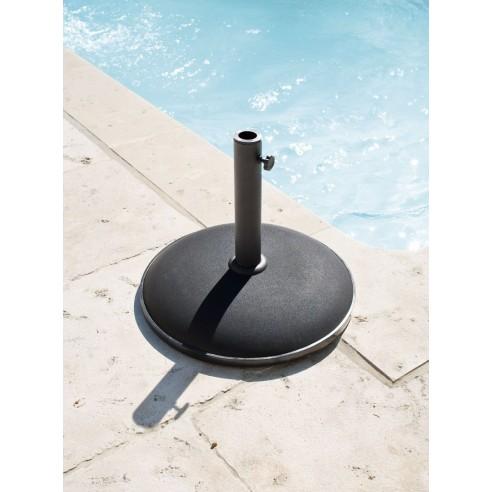 Pied de parasol Béton Noir 25KG - Hesperide