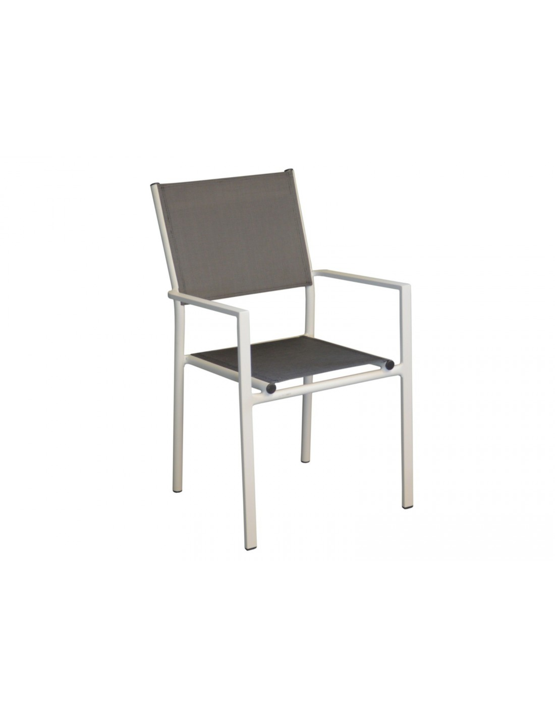 fauteuil de jardin thema blanc sand empilable en aluminium proloisirs. Black Bedroom Furniture Sets. Home Design Ideas