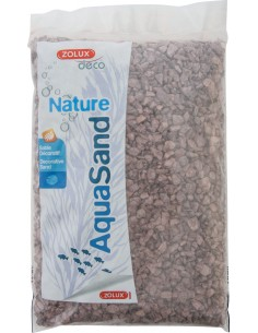 Sable naturel pour aquarium Aquasand grès rouge 12kg