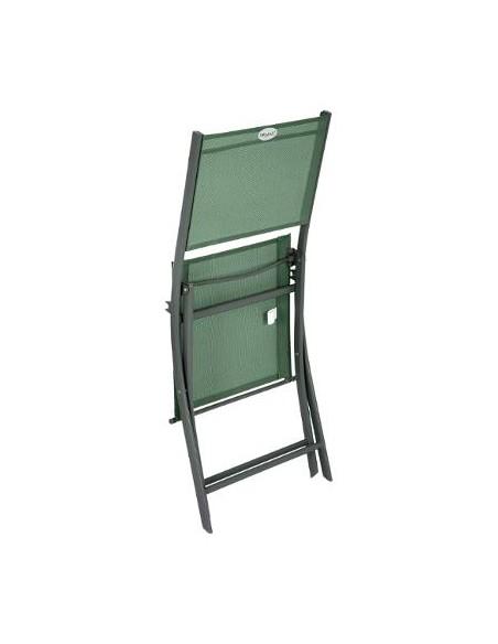 Chaise pliante Modula graphite Olive - Hespéride