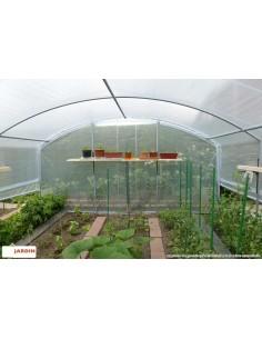 Serre 4 saisons plus de 18 m² bords droits et PVC armé de 300 microns