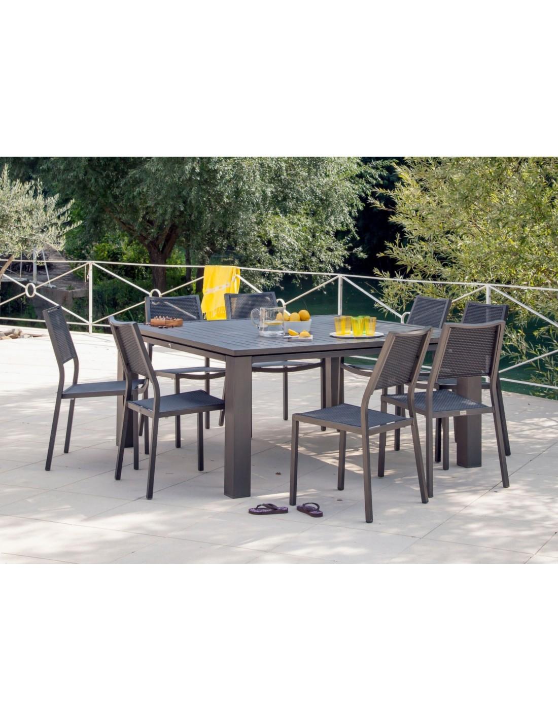 chaise de jardin florence aluminium finition brush proloisirs. Black Bedroom Furniture Sets. Home Design Ideas