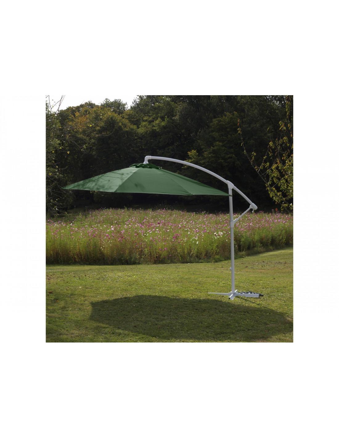 parasol d port eco 3 m inclinable avec manivelle. Black Bedroom Furniture Sets. Home Design Ideas