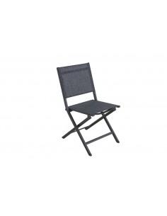 Chaise de jardin pliante Censo - Aluminium toile PVC - MWH