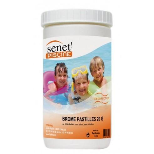 Brome pastille 20 gr pour spa - pot de 1 kg