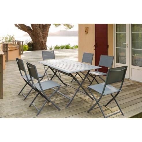 Table de jardin Azua pliante 150 x 80 cm - Aluminium - Hespéride