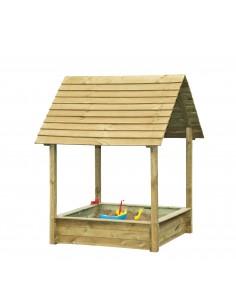 Bac à sable SELMA PARK en bois 120x120 cm - Enfants 3/8 ans