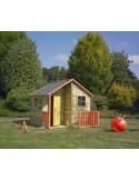 Maisonnette Loulou en bois - Plancher inclus traité