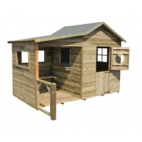 Maisonnette Hacienda en bois - Plancher traité inclus