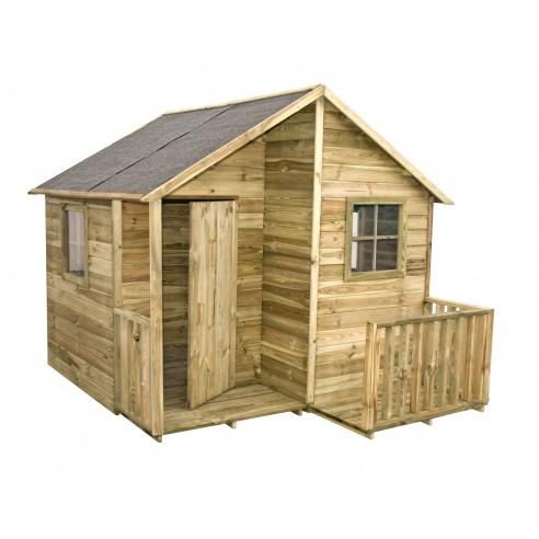 Maisonnette Loulou en bois traité  avec plancher