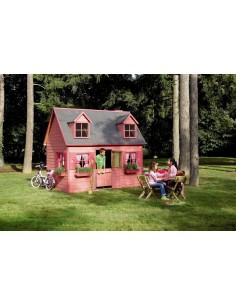 Maisonnette Rosalie en bois - Plancher inclus traité