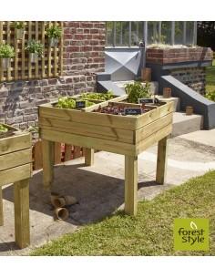 Jardin à épices Marylis en bois 80x80xH70 cm