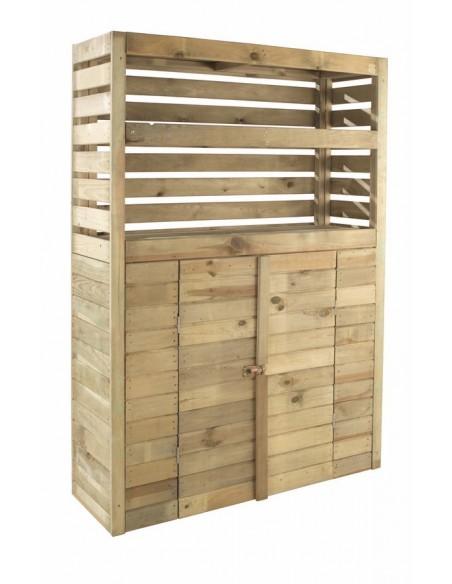 Armoire de rangement Beli 0.5 m² avec plancher en bois traité autoclave 15 mm