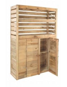 Armoire de rangement Beli 0.5 m² avec plancher - Bois traité autoclave 15 mm