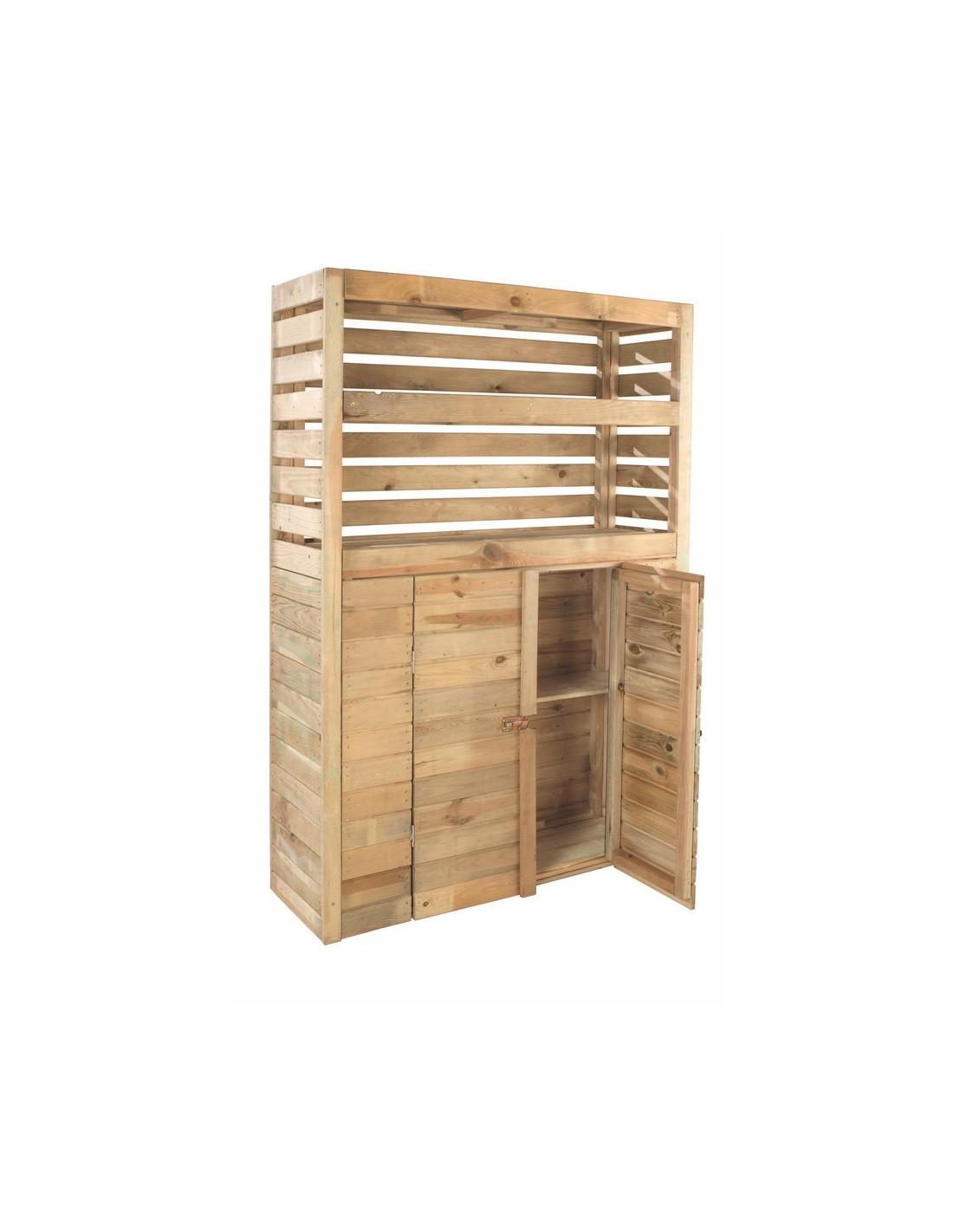 Abri de rangement beli de 0 5 m avec plancher bois for Abri de jardin traite autoclave avec plancher