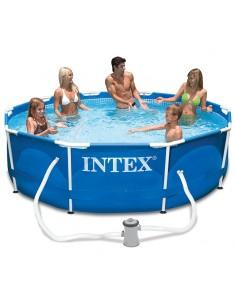 Kit piscine Ronde tubulaire Metal Frame - D.3.05 x H.0.76 m