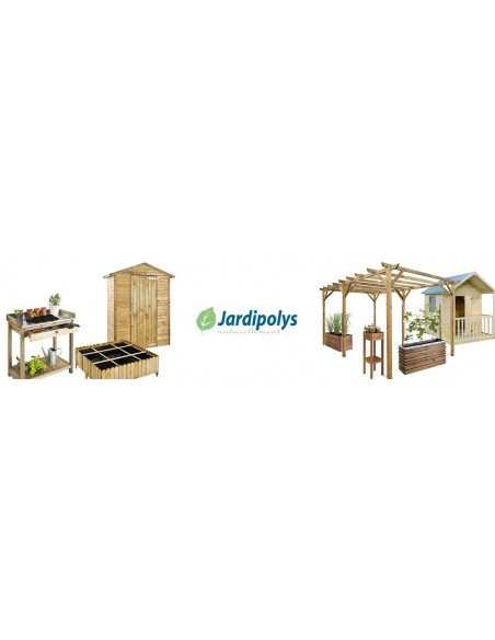 Maisonnette Janaka en bois massif avec plancher