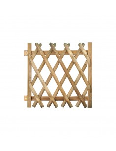 Portillon croisé en bois traité H100x100 cm