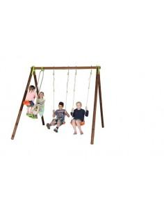 Portique YUKO bois et métal 2.3 m - Enfants 5/12 ans