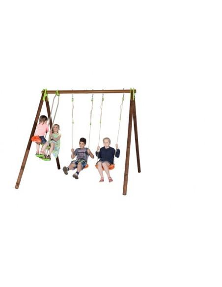 Portique YUKO bois et métal 2.3 m - Enfants 3/12 ans