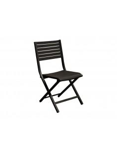 Chaise pliante Lucca - Aluminium graphite - Proloisirs
