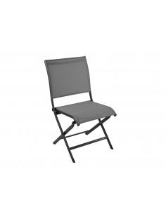 Chaise pliante Élégance - Aluminium Grey gris - Proloisirs