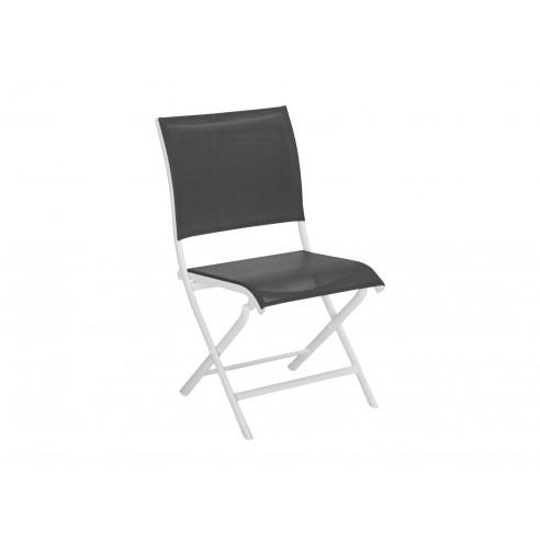 Chaise pliante Élégance - Aluminium blanc graphique - Proloisirs