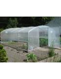 Serre 4 saisons de 9 m² avec bords droits et PVC armé de 300 microns
