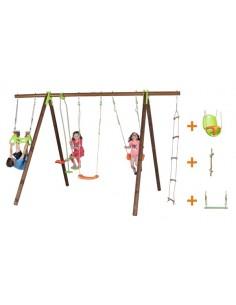Portique BAYANO bois et métal 2.3 m - Enfants 5/12 ans