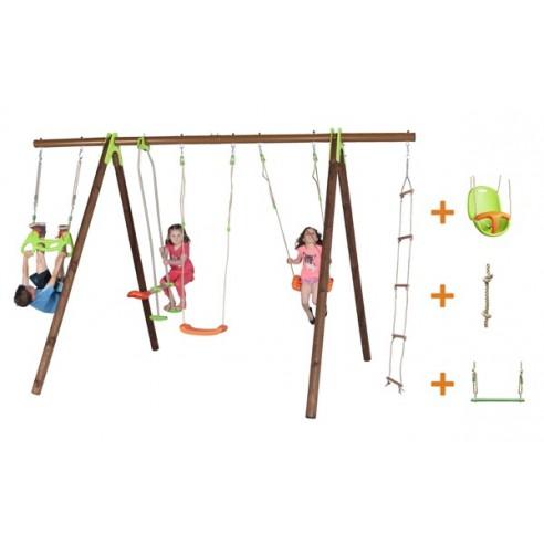 Portique BAYANO bois et métal 2.3 m - Enfants 3/12 ans