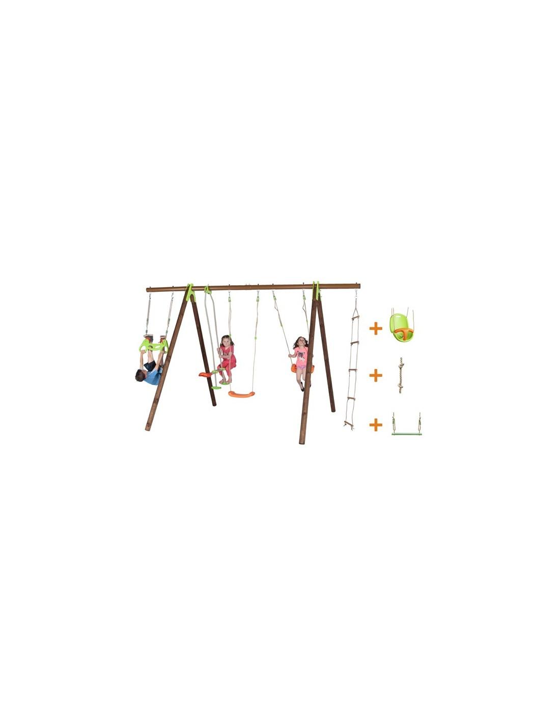 portique bayano bois et m tal 2 3 m enfants 5 12 ans. Black Bedroom Furniture Sets. Home Design Ideas