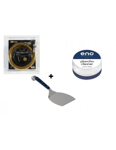 Pack de nettoyage Eno - Spatule + un support boule inox + nettoyant