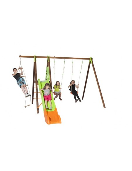 Portique XALTO bois et métal 2.3 m - Enfants 3/12 ans