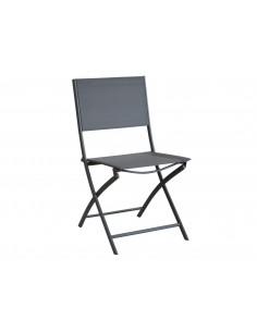 Chaise pliante Dream - Coloris grey gris - Proloisirs