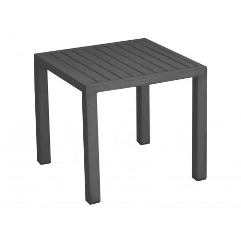 Table basse Lou carrée - 40 x 40 cm graphite - Proloisirs