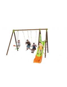 Portique AKEO bois et métal 2.3 m - Enfants 3/12 ans