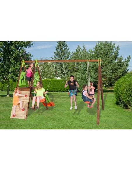 Portique CHURRO bois et métal 2.3 m - Enfants 3/12 ans