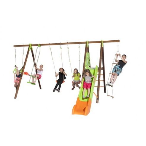 Portique OCTAVO bois et métal 2.3 m - Enfants 3/12 ans