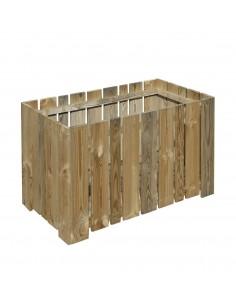 Jardinière Rak avec feutre en bois traité autoclave