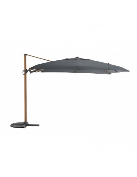 Parasol déporté 3 x 3 m - Flip Flap effet bois - MWH