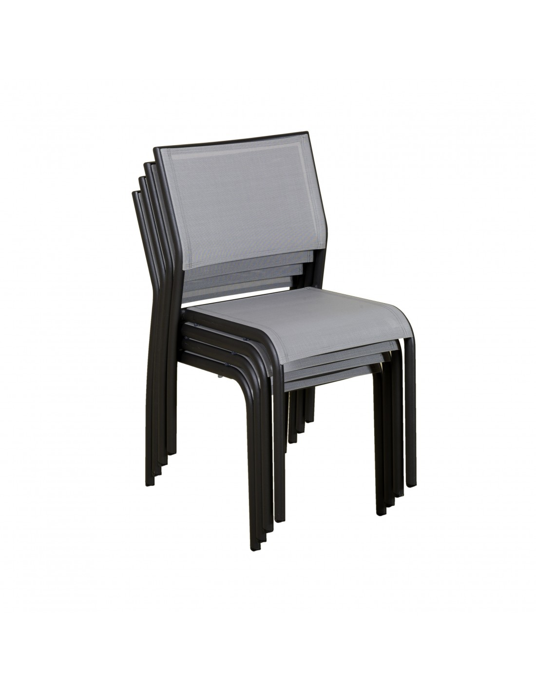 chaise empilable ticao aluminium et pvc les jardins. Black Bedroom Furniture Sets. Home Design Ideas