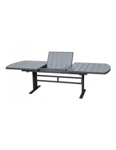 Chaise pliante keneah gris anthracite ou corail les jardins for Table extensible keneah