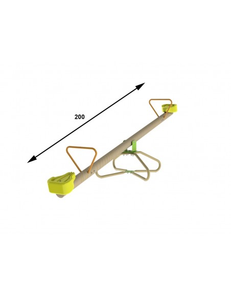 Trébuchet KIKOU rotatif en bois pour enfants 3/10 ans