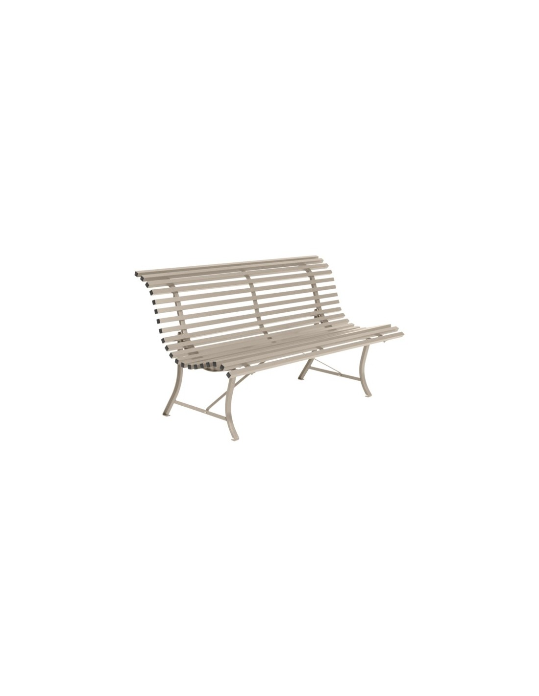 banc de jardin m tal louisiane 150cm lattes fermob. Black Bedroom Furniture Sets. Home Design Ideas