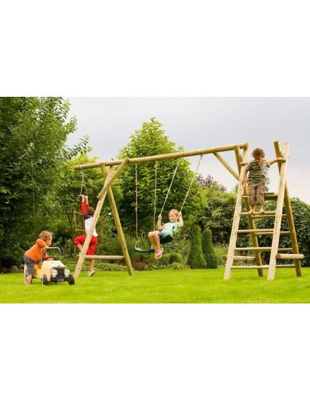 Portique bois HENRY 2.30 m - Enfants 3/12 ans