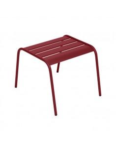 Table basse repose-pieds Monceau Piment métal empilable - Fermob