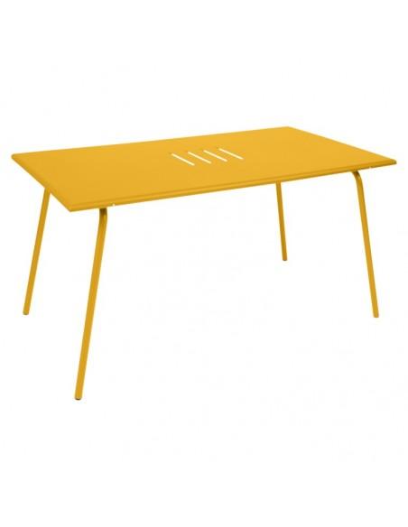 Table de jardin Monceau Miel 146 x 80 cm - Pour 6 personnes - Fermob