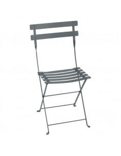 Chaise de jardin pliante Bistro Gris Orage métal collection Fermob