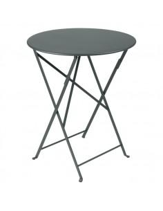Table pliante métal ronde Ø60cm Bistro Gris Orage - 2 places - Fermob