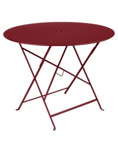 Table pliante métal ronde Ø 96cm Bistro Piment collection Fermob